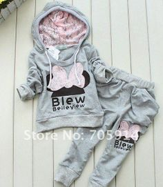 156 wholesales 4 sets/lot Baby Butterfly Sets Baby Drawstring Girl Sport Suits Fashion Sets Free shipping $1674,46