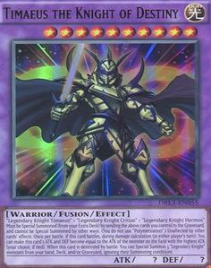 Deckboosters YuGiOh : DRL3-EN055 1st Ed Timaeus the Knight of Destiny Ultra Rare Card - ( Yu-Gi-Oh! Single Card ) All Deckboosters single cards are brand new in mint condition taken straight from the pack. (Barcode EAN = 5051502210584). http://www.comparestoreprices.co.uk/latest2/deckboosters-yugioh-drl3-en055-1st-ed-timaeus-the-knight-of-destiny-ultra-rare-card---yu-gi-oh!-single-card-.asp