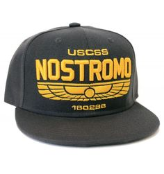 Snapback USCSS Nostromo - czapka z daszkiem Alien Paris T Shirt, Saga Alien, Vintage Logo, Snapback, Batman, Aliens, Licence, Officiel, Plate