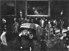 11/24/63: Members of the public file past President Kennedy's casket in the Capitol Rotunda.