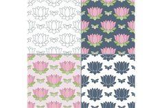Thai massage seamless pattern