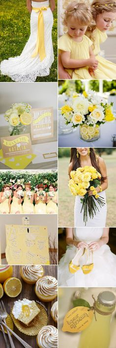 Embrace a vibrant lemon sorbet wedding theme. shades of yellow, from soft buttercup to lively lemon add just the right touch of zing to your special day