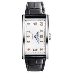 See the Tiffany & Co. East West® Automatic - Unique Piece watch - Movement : Self-winding mechanical - Case : Steel Luxury Watch Brands, Luxury Watches For Men, Tiffany Watches, Hand Watch, Tiffany And Co, Beautiful Watches, Automatic Watch, Grand Prix, Futuristic