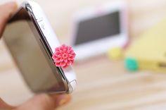 Pretty Flower earphone cap / dust plug for your phone!