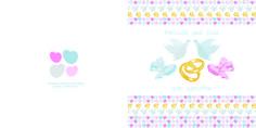 Hochzeitskarten, individualisierbar, 20x20, 4-Seiter