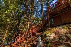 A-frame Cabin For Sale in Skykomish, WA 0045 A Frame House Plans, A Frame Cabin, Cabins For Sale, Tiny Houses For Sale, Green Metal Roofing, Tiny House Talk, Lake George Village, Cedar Park, Little Cabin
