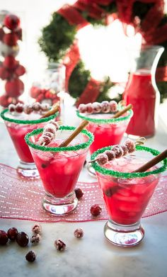 ~ ♥ ~  COCKTAIL   PARTY  ~ ♥ ~  Holiday Spiced Cranberry Margaritas