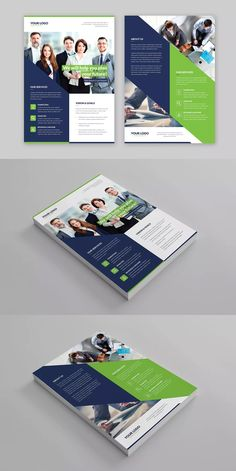 Company Flyer Template PSD - A4 #unlimiteddownloads