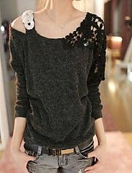 Women's Casual Micro elastic Long Sleeve Regular ... – USD $ 13.99