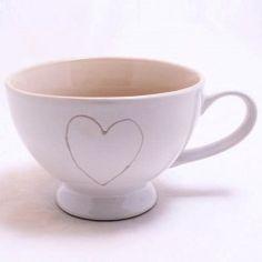 MAXI HRNEK NA ČAJ - SRDCE Pottery, Tableware, Kitchen, Ceramica, Dinnerware, Cooking, Pottery Marks, Tablewares, Kitchens