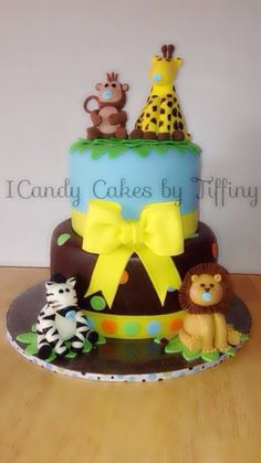 Baby shower  - Jungle themed baby shower cake.