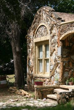 One of the Petrified Wood Houses of Glen Rose, Texas by bevoarchitect