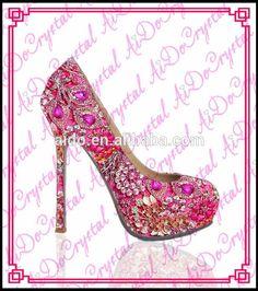 eab9ca814924d Aidocrystal milan fashion party 14cm rhinestone high heels