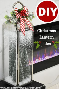 This beautiful Christmas Lantern is definitely a showstopper. This lantern will look amazing in your home. Start prepping for the Christmas holidays with these simple DIY's. #christmas #christmasdecor #christmasdesigns #holidaydecor #diychristmasdecor #christmasideas #christmasdecorideas #christmascrafts