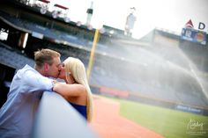 Turner Field engagement photos!!!!! I can't wait to put my feet in the outfield without getting yelled at this time :)
