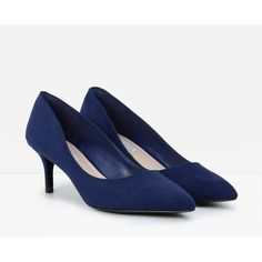 Ladies Sexy Low Mid Kitten Heels Shoes Faux Suede Pointed Toe ...