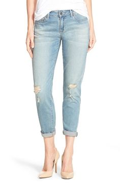 CJ by Cookie Johnson 'Glory' Distressed Slim Boyfriend Jeans (Ruby) | Nordstrom
