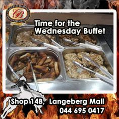 How time flies! It's Wednesday already and time for the Cattle Baron Mossel Bay Lunch Buffet again. We would however like to bring to your attention that our Saturday night Buffet will no longer be a buffet but an ordinary evening with our full menu. Lunch Buffet, Beef Dishes, Baron, Saturday Night, Cattle, Wednesday, Menu, Food, Kitchens
