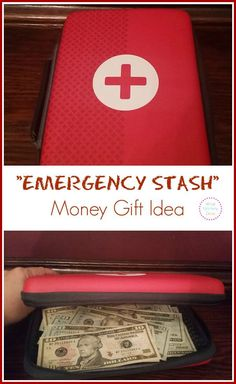 EMERGENCY MONEY GIFT - Such a fun gift that can help fund a bare-bones budget. It's a perfect college student Christmas gift idea! #3 in my creative gift inspiration series.