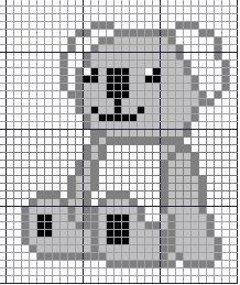 Kowala Teddy Bear for knitting, ASCI art and just for fun ^-^ Teddy Bear Patterns Free, Crochet Teddy Bear Pattern, Beaded Cross Stitch, Crochet Cross, Free Cross Stitch Charts, Cross Stitch Patterns, Baby Koala, Koala Bears, Australian Animals