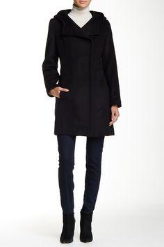 Ashley Hooded Wool Blend Coat by Trina Turk on @nordstrom_rack