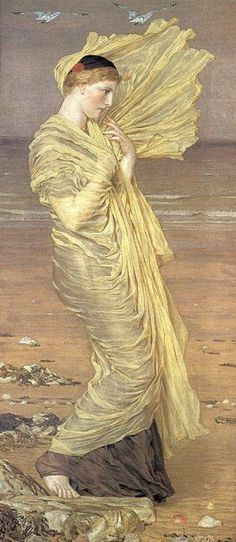 Sea-Gulls (1871) by Albert Moore (mydailydisplay)
