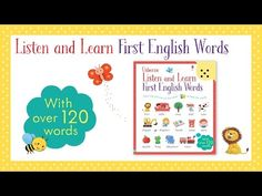 A fun and interactive way for children to learn and listen to over 100 everyday English words spoken by a native speaker. Word Check, Everyday English, Toddler Books, Little My, Teaching Materials, English Words, How To Introduce Yourself, Vocabulary, Good Books