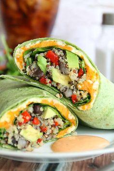 Quinoa Veggie Burrito - Amy in the Kitchen