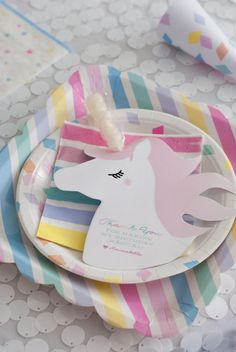 Unicorn Lolli Favor Tag Birthday Party INSTANT DOWNLOAD