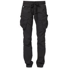 GStar SOLAR ROVER Cargo trousers ($135) ❤ liked on Polyvore featuring pants, jeans, black, bottoms, trousers, women's trousers, black cargo pants, cargo pants, g-star raw and g star raw pants