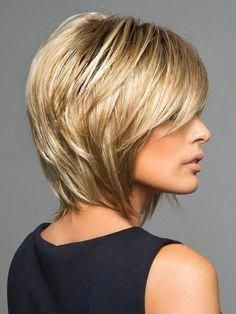 Classic Brunette Balayage - 20 Inspirational Long Choppy Bob Hairstyles - The Trending Hairstyle Bobs For Thin Hair, Short Hair With Layers, Short Hair Cuts, Thick Hair, Layered Bob Hairstyles, Hairstyles Haircuts, Trending Hairstyles, Medium Bob Haircuts, Blonde Hairstyles