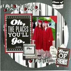 Scrapbook Layout School Backgrounds - Reminisce The Graduate Collection 12 x 12 Double Sided Paper Graduation Day. School Scrapbook Layouts, Scrapbooking Album, Paper Bag Scrapbook, Scrapbooking Digital, Scrapbook Titles, Scrapbook Designs, Scrapbook Sketches, Scrapbook Kit, Scrapbook Supplies