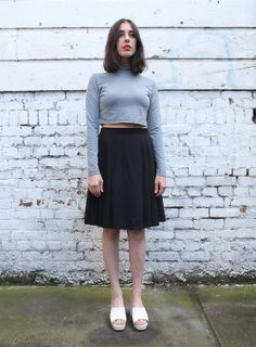 Vintage High Waisted 1990's Black Pleated by mothersdaughtershop, $42.00