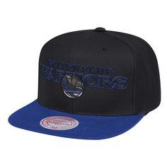 13d5290034441 Men s Golden State Warriors Mitchell   Ness Black Royal Woodland Covert II  Adjustable Snapback Hat