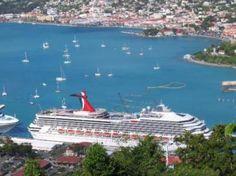 Carnival Cruises Mega-ship docked in St Thomas