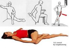 Tensor fascia lata estiramientos : LlegaRunning #FasciaStretching Fascia Lata, Hip Workout, Gym Workouts, Fascia Stretching, Tensor Fasciae Latae, Tight Hip Flexors, Psoas Muscle, Massage Benefits, Tight Hips