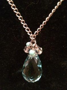Large Amazonite Quartz Pendant Necklace