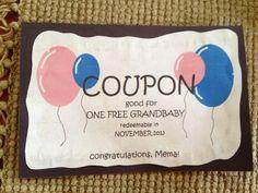 My pregnancy announcement for grandma! | Future Family