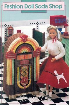 Fashion Doll Soda Shop - Annie's pc patterns fit Barbie dolls RARE new