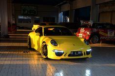 Yellow Submarine - Porsche 911 991 by Techart #porsche #tuning
