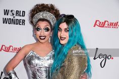 Drag queen Bianca Del Rio (L) and Adore Delano attend Logo TV's 'RuPaul's Drag Race' season finale event at Orpheum Theatre on May 19, 2015 in Los Angeles, California.
