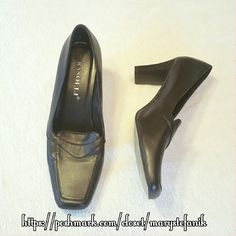"""Rasolli Brown Career Shoes size 8 Rasolli Brown Career Shoes size 8 in great used condition. The heel measures 3"""" and there is an imperfection in one of the heels as shown in the 4th pic.  Please let me know if you have questions. Happy Poshing! rasolli  Shoes Heels"""