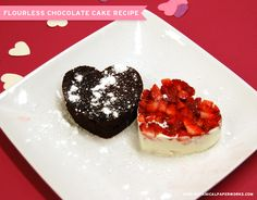 26 Sweet Valentine's Day Dessert Recipes Flourless chocolate cake Heart Healthy Desserts, Healthy Dessert Recipes, Easy Desserts, Delicious Desserts, Easy Cookie Recipes, Cake Recipes, Valentines Day Desserts, Valentine Cake, Flourless Chocolate Cakes