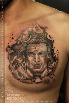 Black Poison Tattoo Studio, is a newly refurbished, health registered and sterile tattoo studio based in Ahmedabad India. Ganesh Tattoo, Shiva Tattoo Design, Cat Face Tattoos, God Tattoos, Dream Tattoos, Small Tattoo Designs, Tattoo Designs Men, Small Tattoos, Chest Piece Tattoos