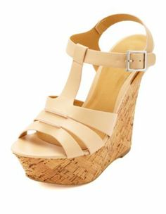 triple t-strap platform wedge sandals