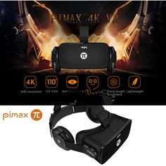Virtual Reality Glasses Headset with Dual Gyroscope Anti and Blue Laser for Pc - Pc Components Virtual Reality Glasses, Virtual Reality Headset, Augmented Reality, Vr Box, Pc Components, 3d Glasses, 4k Uhd, Light Sensor, Vestidos