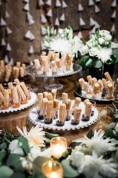 dessertbuffet desserts Table - 20 Super Sweet Wedding Dessert Display and Table Ideas - Oh Best Day Ever # dessert table ideas Rustic Wedding Desserts, Dessert Bar Wedding, Wedding Cakes, Taco Bar Wedding, Unique Wedding Food, Rustic Dessert Tables, Bar Wedding Ideas, Baptism Dessert Table, Wedding Food Bars