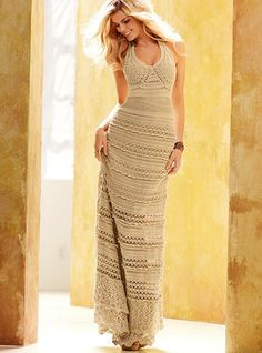 Cotton Crochet Maxi Dress - Victoria's Secret