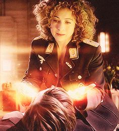 I love when she realizes who she will become and all the Doctor will mean to her.this moment made me cry :'( Doctor Who, Eleventh Doctor, Geronimo, Alex Kingston, Hello Sweetie, Don't Blink, Torchwood, Matt Smith, David Tennant