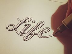 Hand Lettering by seanwes - Life